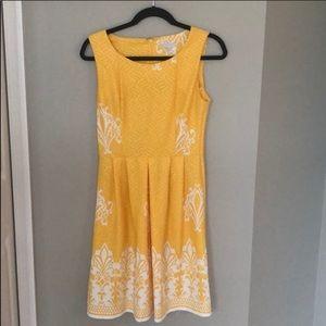 New York and Company Yellow Dress Small EUC